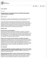 ERIC - ERIC ED489218: Leadership for Turning Around Low-Performing Schools: A Western Regional Roundtable. Issue Brief